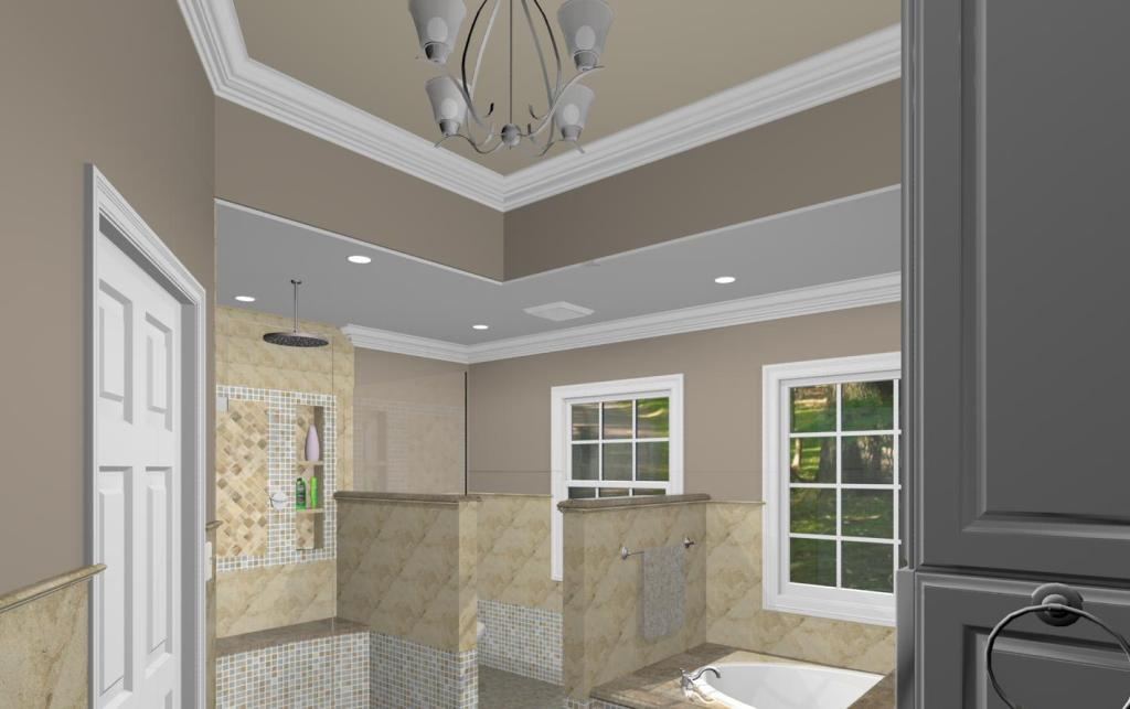 Master Bathroom Design Options Plan Design Build Planners - Bathroom glass partition designs