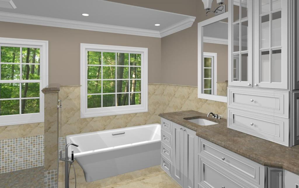 Bathroom Remodeling Options master bathroom design options - plan 3 - design build pros
