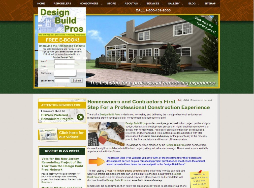 Design Build Planners Old Site