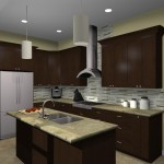 Kitchen remodeling design option - UPSCALE 07059 (2)