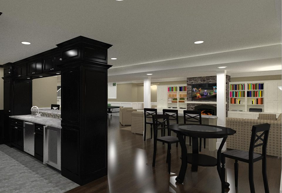 NJ Basement Design Remodeling Design Build Planners Custom Basement Finish Ideas Concept