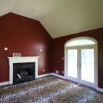 red walls in bonus room remodeling