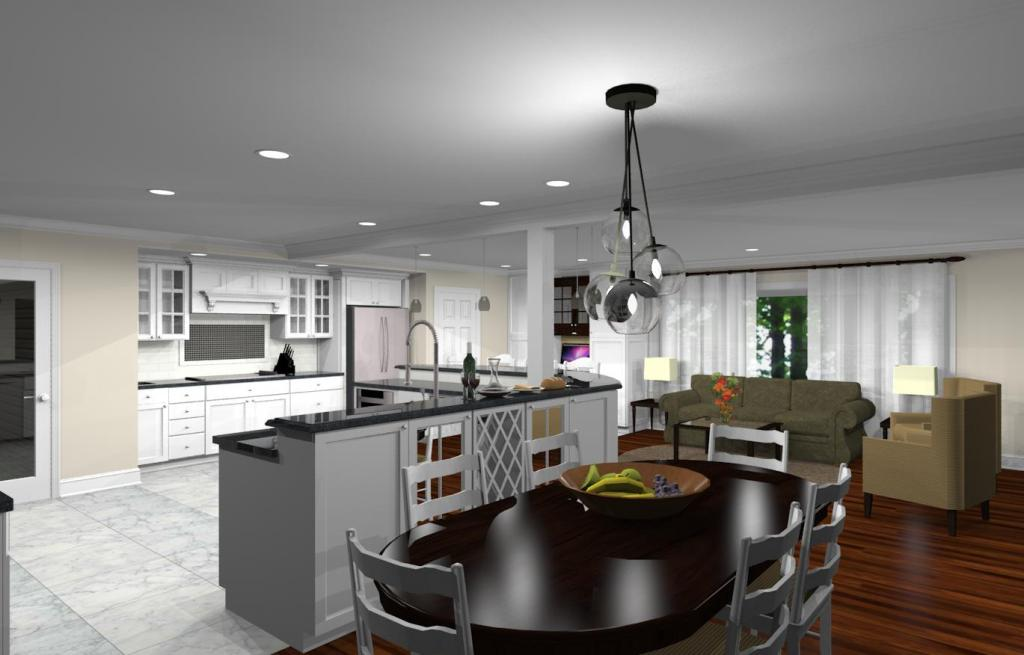Kitchen Remodeling Design With Open Floor Plan In Watchung NJ 07069 Design
