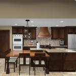 Kitchen island design with wood countertop - Design Build Planners (1)