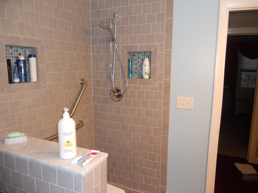 wall shower by k niche liner d img recessed