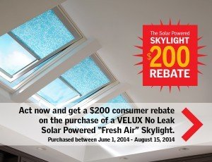 Velux skylights from Design Build Planners