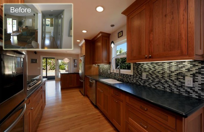 Galley Kitchen Before And After: Rhonda Burgin Of Burgin Construction