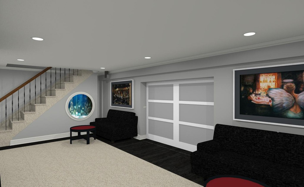 computer aided design for a basement remodel 8. beautiful ideas. Home Design Ideas