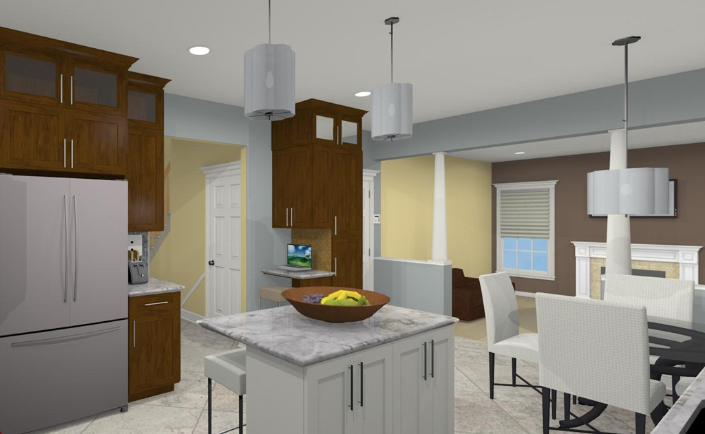 kitchen in basement design.  Computer Aided Design For A Kitchen Remodel In NJ 1 Basement And Bathroom Designs Middlesex County