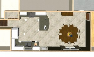 Dollhouse Overview of Design Build Planners Kitchen Design Plan