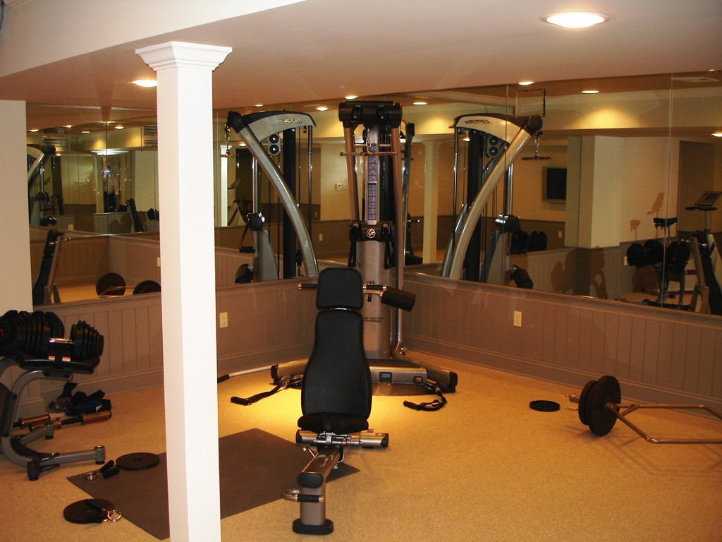 home gym design options design build planners. Black Bedroom Furniture Sets. Home Design Ideas