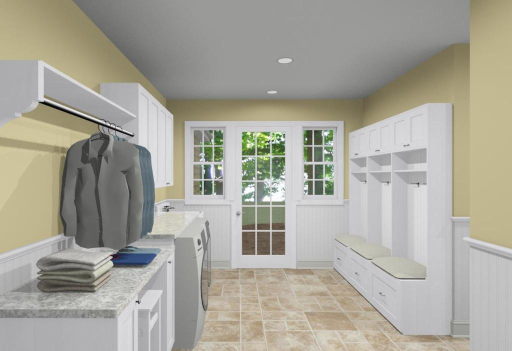 Utility Room Design Ideas laundry room wallpaper Mud Room And Laundry Room Design Ideas 6