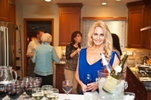 Wine and Cheese party in newly remodeled kitchen (1)