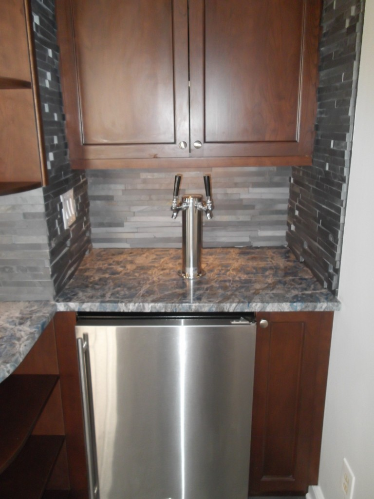 Kegerator for wet bar design build pros Home bar furniture with kegerator