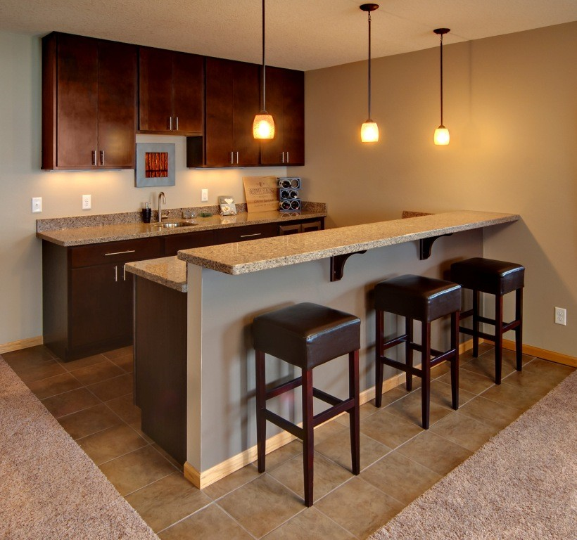 Wet bars options and features design build pros - Basement wet bar design ...