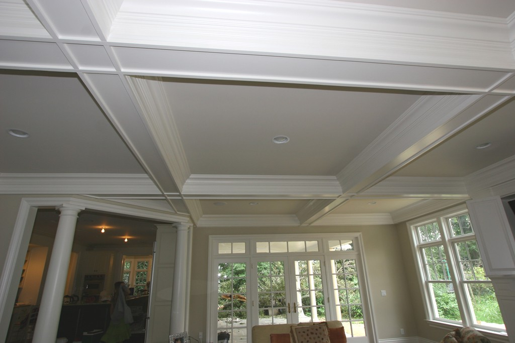 Coffered ceiling molding design build planners for Coffered ceiling styles