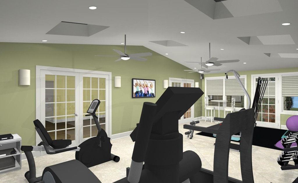 Exercise room addition in middlesex county nj design