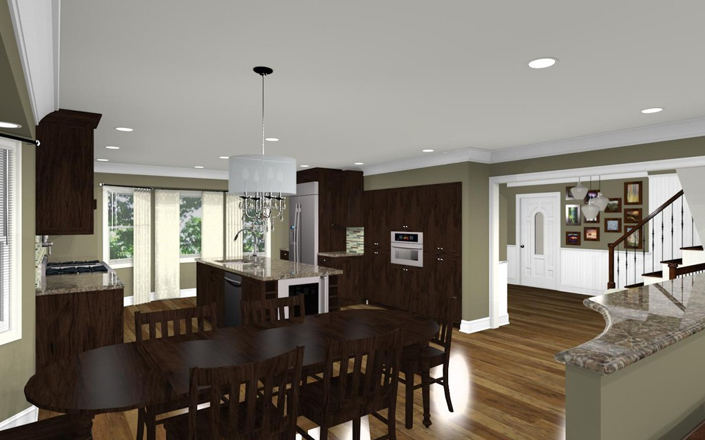 Kitchen Remodel With An Open Floor Plan In North Brunswick Nj Design Build Planners