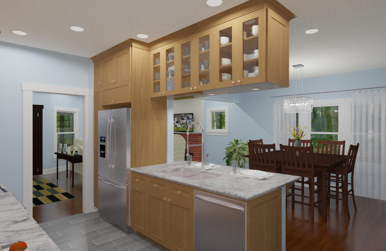 small kitchen remodel in bergen county nj design build planners. Black Bedroom Furniture Sets. Home Design Ideas