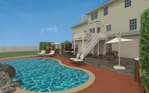 Computer Aided Design of an Exterior Remodel Raised Deck Terrace (5)-DesignBuildPros