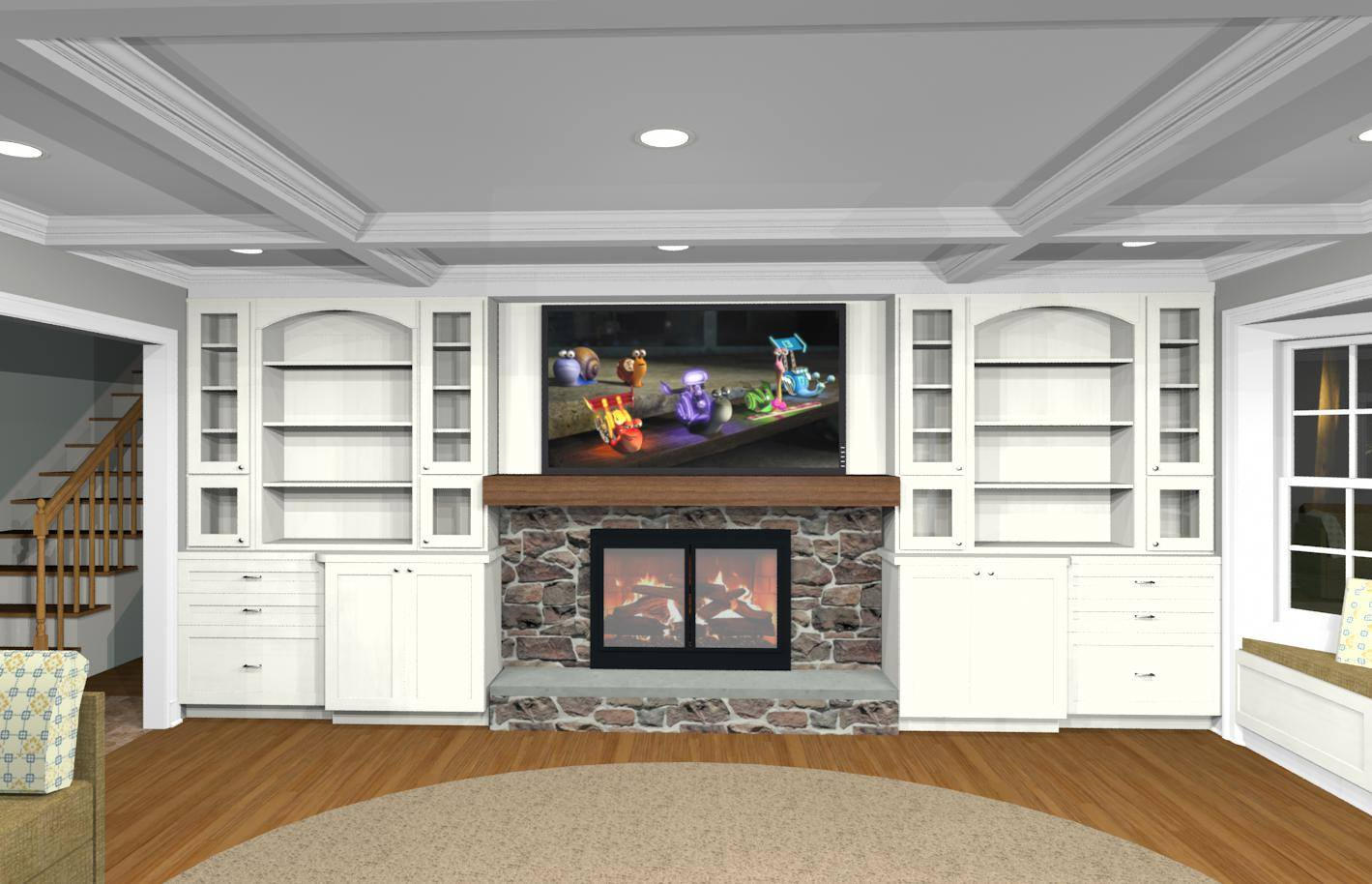 Conceptual Overview Plan Of A Bridgewater New Jersey Fireplace Area  (1) Design Build