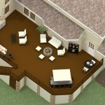 Dollhouse Overview of Plan 2 of an Outdoor Living Space Remodel in Monmouth County New Jersey-DBP