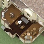 Dollhouse Overview of an Outdoor Living Space Project in Monmouth County Plan 3-Design Build Planners