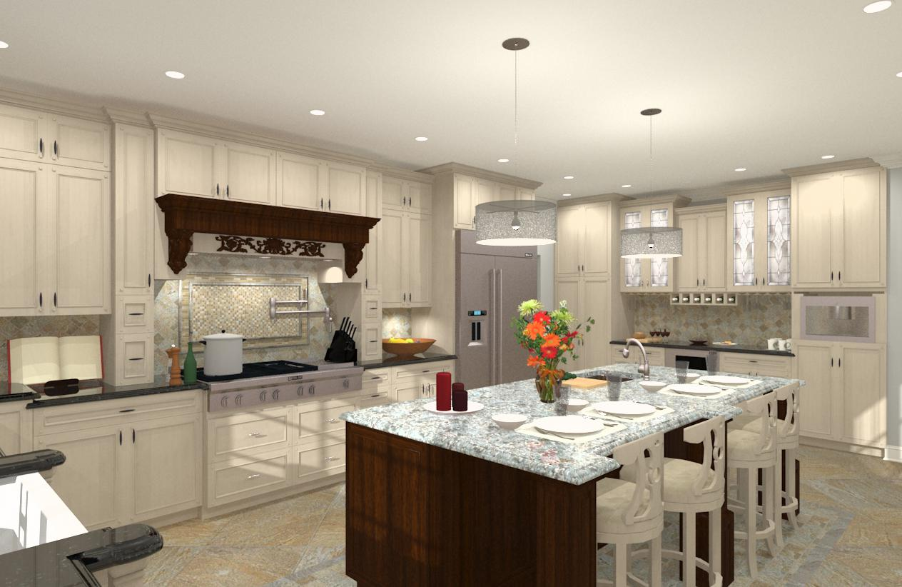 Gourmet Kitchen Addition Design In Monmouth County, NJ