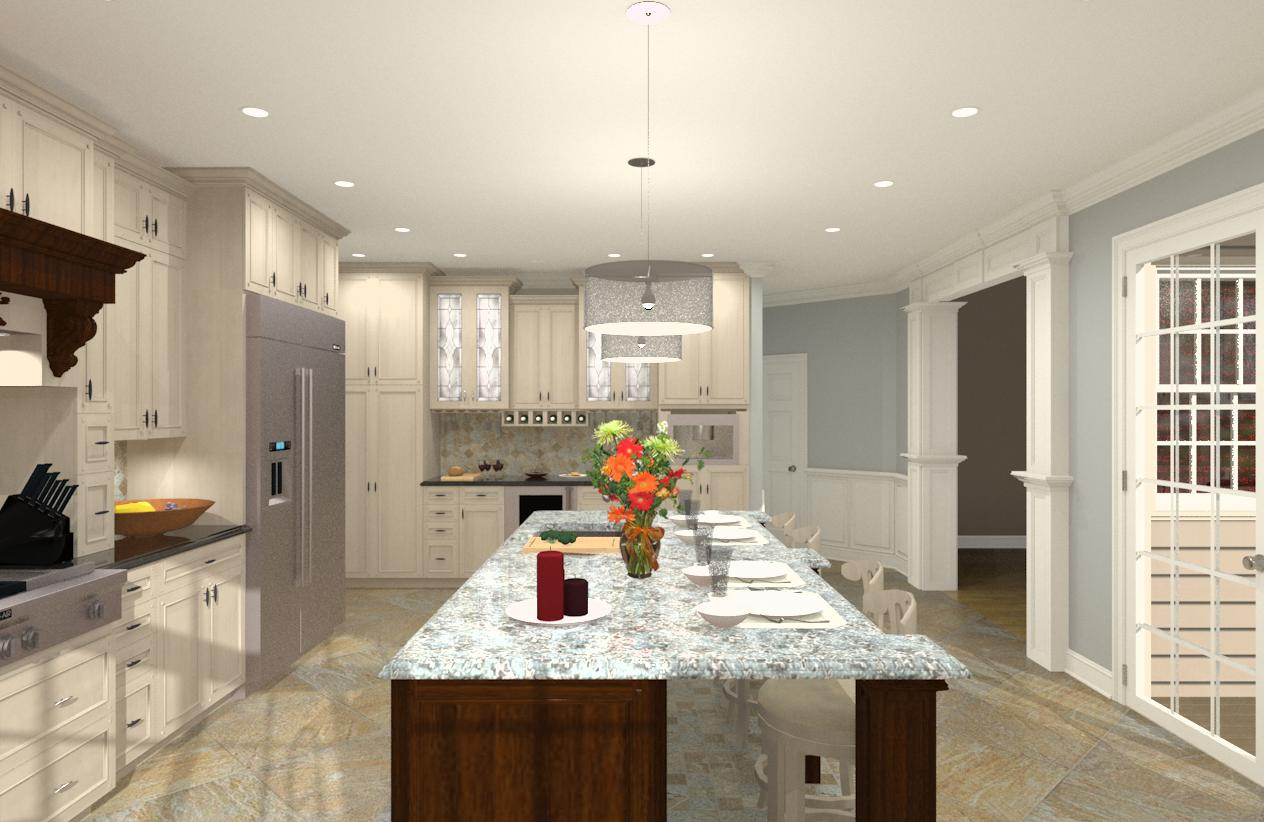 Gourmet Kitchen Addition Design in Monmouth County, NJ - Design ...