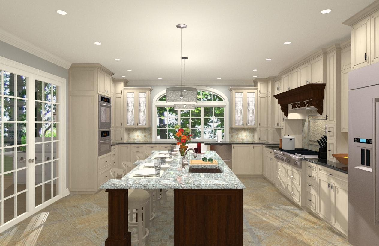Gourmet Kitchen Addition Design in Monmouth County NJ