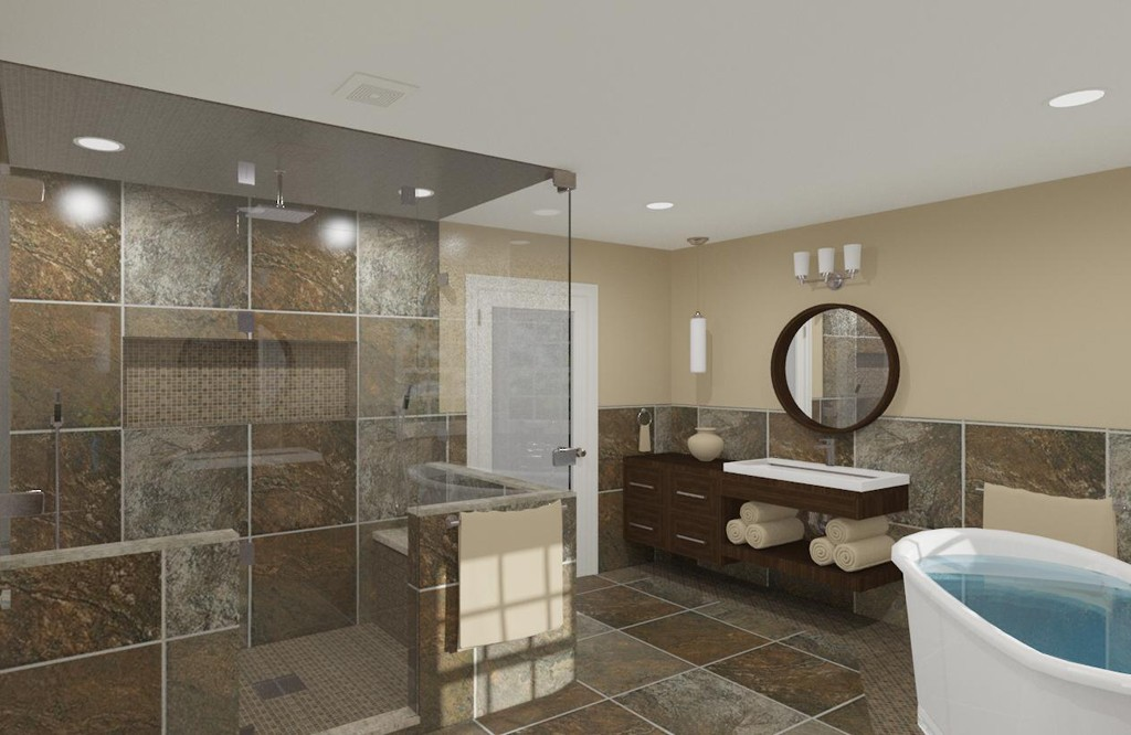Luxury master bathroom design in matawan nj design build pros - Bathroom design nj ...