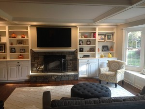 Nearly Finished Fireplace Area in Bridgewater New Jersey (1)-Design Build Planners