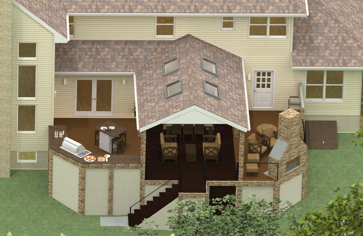 Amazing Plan 3 Of An Outdoor Living Space Remodel In Monmouth County New Jersey (12)