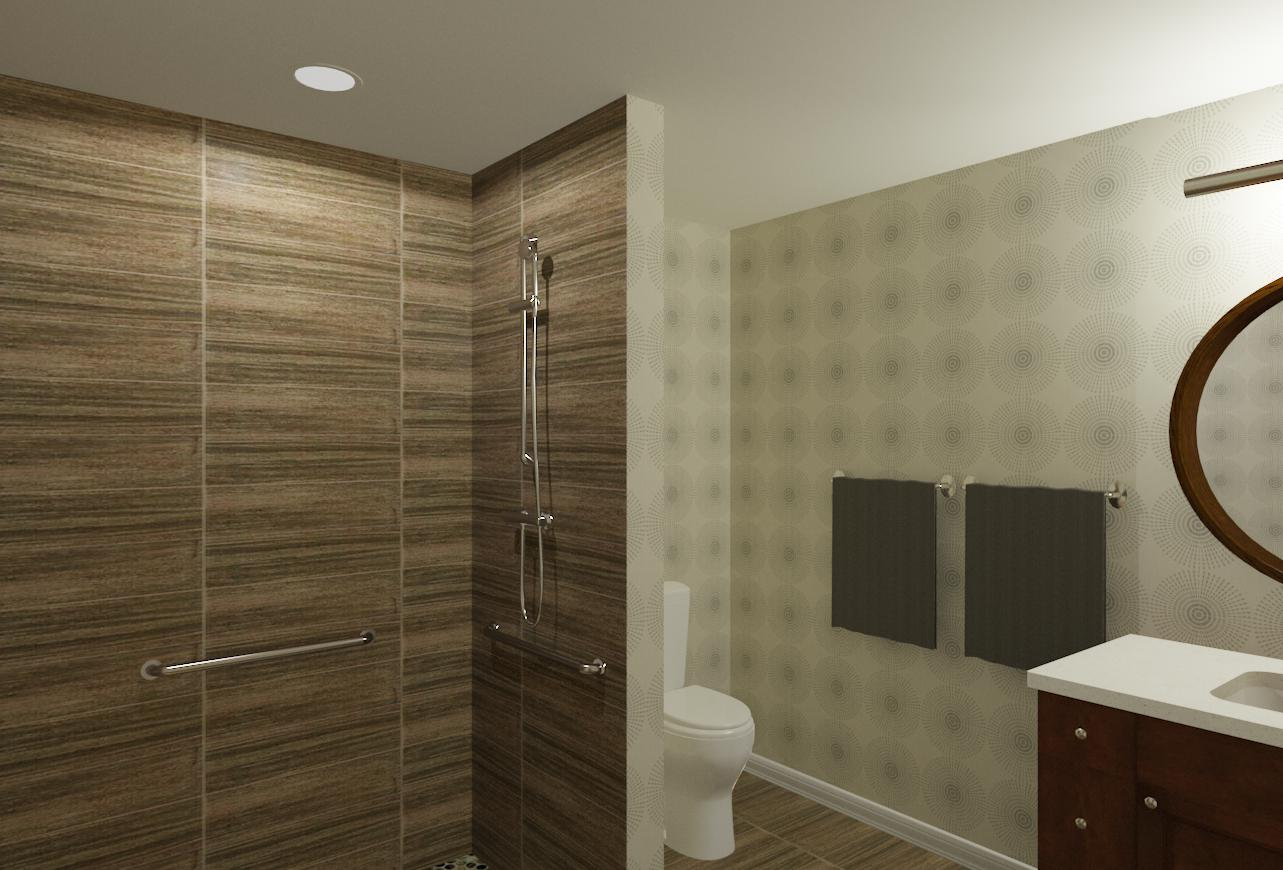 Accessible bedroom and bathroom addition in essex county for Bathroom design nj