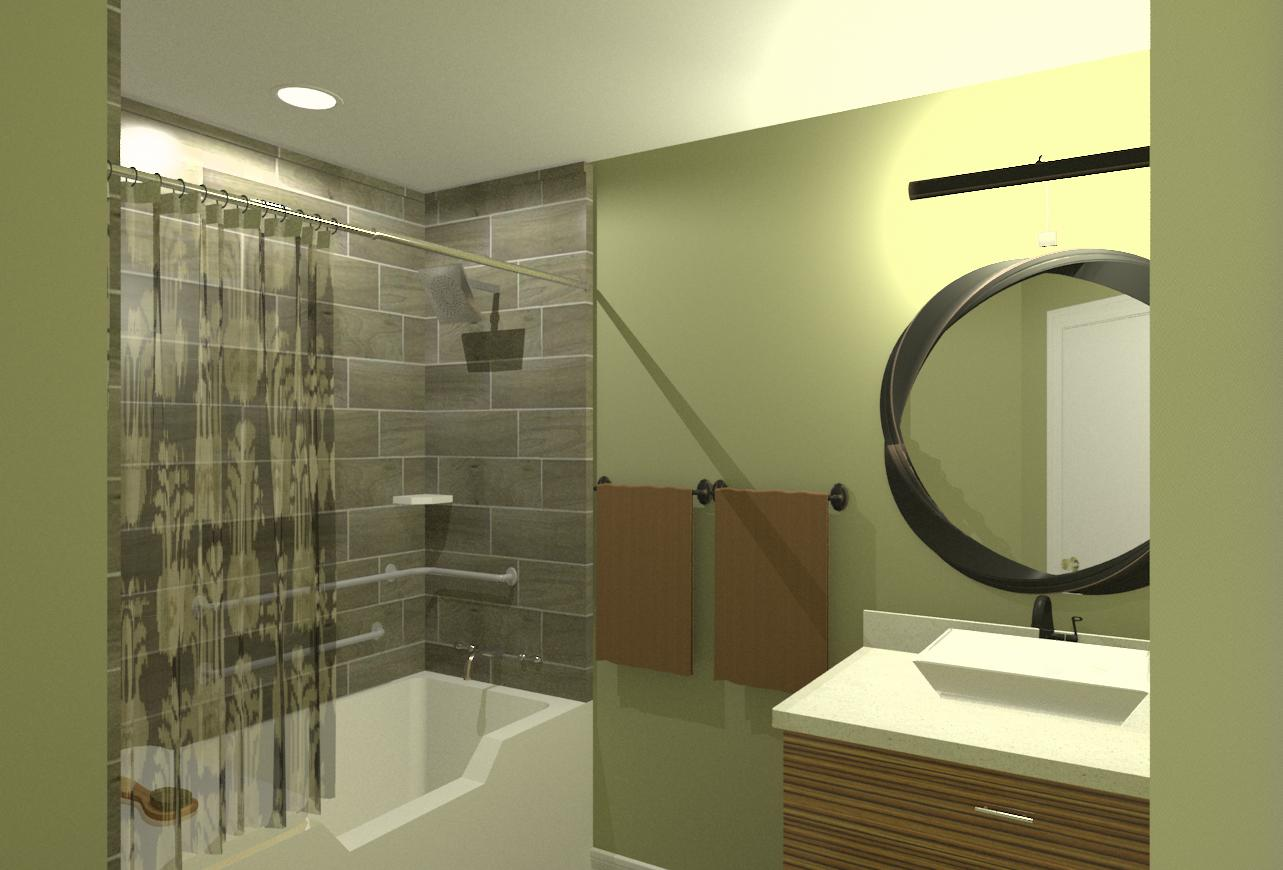 Accessible bedroom and bathroom addition in essex county for Bathroom designs nj