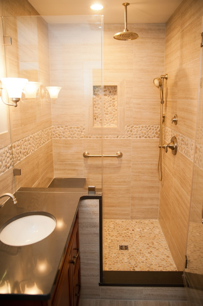Custom shower options for a bathroom remodel design - How to layout a bathroom remodel ...