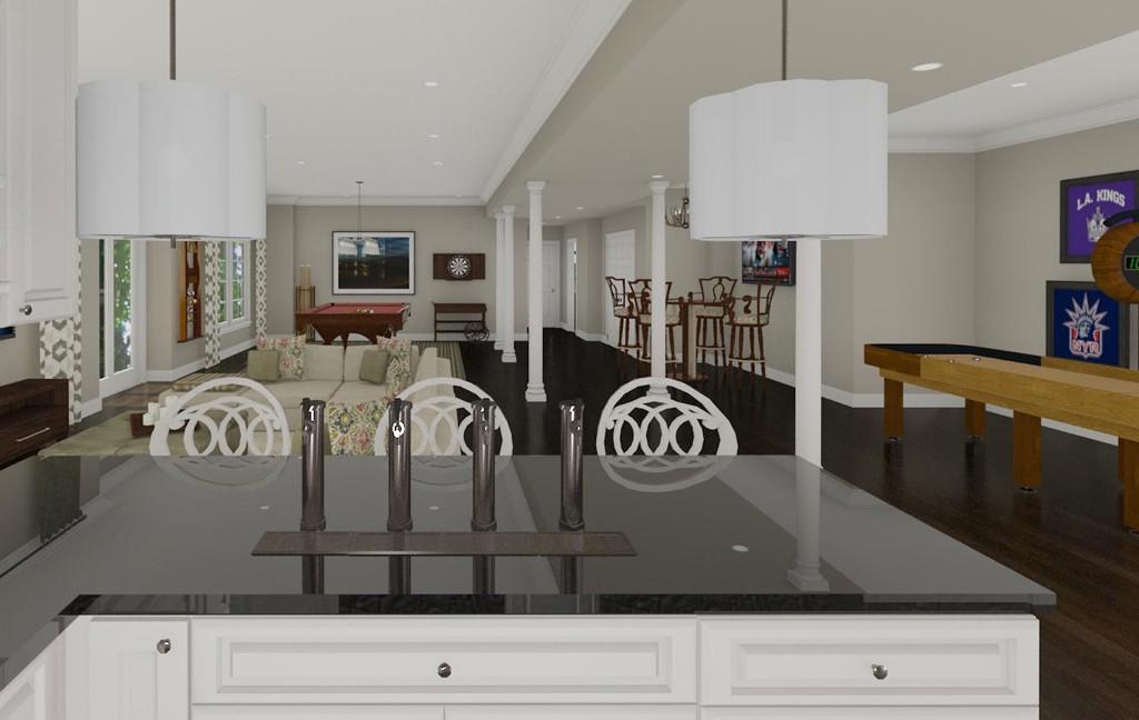 Kitchen Island Kegerator what is a kegerator? - design build pros