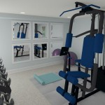 CAD of Gym Plan 2 Basement Finishing Options in Warren (1)-Design Build Planners