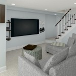 CAD of TV Area Plan 2 Basement Finishing Options in Warren (1)-Design Build Planners