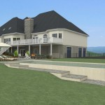 CAD of a Pool Area in Millstone NJ (2)-Design Build Planners