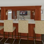 Computer Aided Design of Bar Plan 3 Basement Finishing in Warren NJ (2)-Design Build Planners