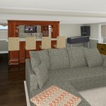 Computer Aided Design of Bar Plan 3 Basement Finishing in Warren NJ (3)-Design Build Planners