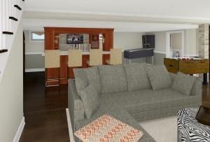 Computer Aided Design of Bar Plan 3 Basement Finishing in Warren NJ (3)-Design Build Planners