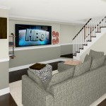 Computer Aided Design of Family Room Plan 3 Basement Finishing in Warren NJ (1)-Design Build Planners