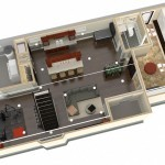 Dollhouse Overview of Plan 3 Basement Finishing Options in Warren NJ (1)-Design Build Planners