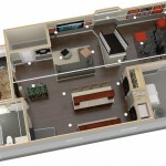 Dollhouse Overview of Plan 3 Basement Finishing Options in Warren NJ (2)-Design Build Planners