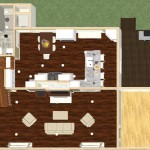 Dollhouse Overview of a Kitchen and Bathroom Remodel in Spring Lake NJ Plan 2 (w)-Design Build Planners