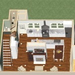 Dollhouse Overview of a Kitchen and Bathroom in Spring Lake NJ Plan 1 (2)-Design Build Planners
