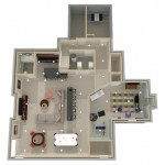 Dollhouse Overview of Monroe NJ Basement Design Options Plan 2 (2)-Design Build Planners