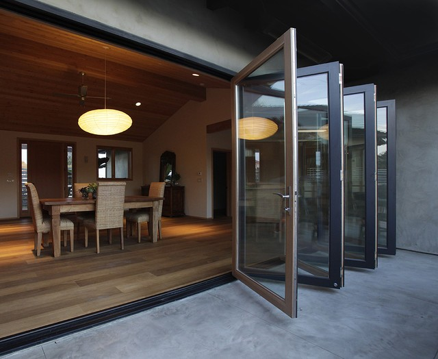 Folding patio doors for your home design build planners for Patio folding doors